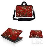 """LSS 17-17.3"""" Laptop & MacBook PRO Sleeve Bag with Matching Laptop Skin Sticker & Mouse Pad Combo 