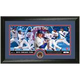 Chicago Cubs Lets Go! Dirt Coin Panoramic Photo Mint
