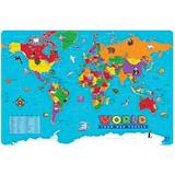 Educational Insights World Foam Map Puzzle, Multicolor