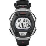 Timex Men's T5K8269J Ironman Classic Digital Silver-Tone Resin Watch with Black Nylon Band
