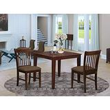 East West Furniture OXNO3-MAH-C 3 Pc Small Set-Square Table and 2 Kitchen Dining Chairs