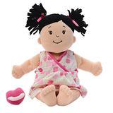 Manhattan Toy Baby Stella Black Hair Soft First Baby Doll, 15-Inch