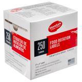 "Cambro 23SLB250 StoreSafe Food Rotation Labels - 2x3"" (250 Per Roll)"
