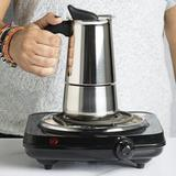 Primula 6-Shot Stainless Steel Stovetop Espresso Maker in Brown/Gray, Size 8.6 H x 5.3 W x 4.1 D in   Wayfair PES-4606