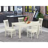 5 PC Dining room set-Dining Table and 4 Dining Chairs