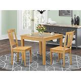 3 Pc small Kitchen Table set -square Table and 2 Dining Chairs