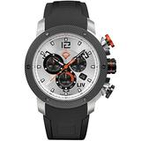 LIV Swiss Watches GX1 Swiss Analog Display Chronograph Casual Watch for Men; 45 mm Stainless Steel with Date Calendar; 660 feet Water-Resistant - The Panda