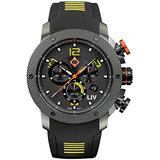 LIV Swiss Watches GX1 Swiss Analog Display Chronograph Casual Watch for Men; 45 mm Stainless Steel with Date Calendar; 660 feet Water-Resistant - Venom Yellow