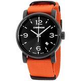 Wenger Men's Urban Metropolitan Stainless Steel Swiss-Quartz Watch with Nylon Strap, Orange, 22 (Model: 01.1041.131)