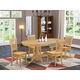 5 PC Dining set Table with Leaf and 4 Chairs for Dining