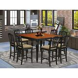 9 PC counter height set- Square pub Table and 8 Kitchen counter Chairs