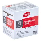 "Cambro 23SLINB250 StoreSafe Food Rotation Blank Labels - 2x3"" 250 Per Roll"