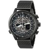 Citizen Eco-Drive Promaster Navihawk A-T Quartz Mens Watch, Stainless Steel, Pilot watch, Black (Model: JY8037-50E)