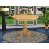 East West Furniture ANT-OAK-TP Beautiful Modern Dining Table - Oak Table Top Surface and Oak Finish legs Solid Wood Frame Modern Dining Table