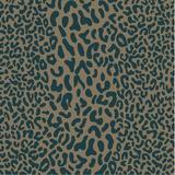 Mercer41 Arreguin Animal Print Handmade Tufted Wool Teal Area RugWool in Blue/Brown/Green, Size 96.0 H x 96.0 W x 0.39 D in   Wayfair
