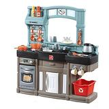 Step2 Best Chefs Kitchen Playset | Kids Play Kitchen with 25-Pc Toy Accessories Set, Real Lights & Sounds, Multicolor