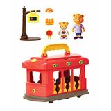 Daniel Tiger's Neighborhood Deluxe Electronic Trolley Vehicle with 2 Songs, 12 Phrases, Trolley Sounds & Light! Daniel & Mom Tiger Figures Included, For Ages 3+