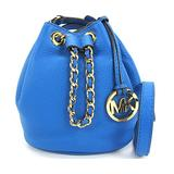 Michael Kors Frankie Leather Drawstring Crossbody Heritage Blue 32H4GFKC1L