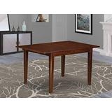 East West Furniture NFT-MAH-T Butterfly Leaf Norfolk Table - Mahogany Table Top Surface and Mahogany Finish Amazing 4 Legs Solid wood Structure Dining Table