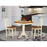 3 Pc counter height Dining set-counter height Table and 2 Kitchen Chairs