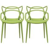 2xhome Set of 2 Green Stackable Contemporary Modern Designer Wire Plastic Chairs with Arms Open Back Armchairs for Kitchen Dining Chair Outdoor Patio Bedroom Accent Balcony Office Work Garden Home
