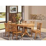 7 Pc Dining room set Dining Table with Leaf and 6 Dining Chairs