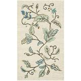 "Safavieh Martha Stewart Collection MSR3611C Handmade Autumn Woods Wool & Viscose Accent Rug, 2'6"" x 4'3"", Colonial Blue"