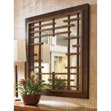 Tommy Bahama Home Island Fusion Mikasa Square Dresser Mirror Wood in Brown, Size 47.0 H x 47.0 W x 5.0 D in | Wayfair 01-0556-204