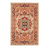 """Phoenix Hand-hooked Wool Area Rug - Ivory/Black, 5'6"""" Round - Frontgate"""