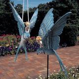 "Design Toscano Thumbelina Garden Statue w/ Hanging, Resin/Plastic in Beige, Size 12""H X 6""W X 7""D | Wayfair QM14023"