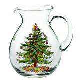 Spode Christmas Tree 96 oz. Glass Pitcher Glass in Green, Size 9.5 H x 7.25 W in | Wayfair 4051268