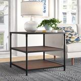 Mercury Row® Hera End Table w/ Storage Wood in Black/Brown, Size 25.0 H x 28.0 W x 28.0 D in   Wayfair MCRR1721 25290967