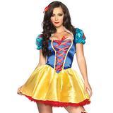 Leg Avenue 3 Piece Fairy Tale Snow White Costume Sexy Princess Dress with Headband Set for Women, Multi, X-Small