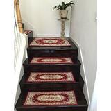 "Acrylic Non-Slip Stair Runners Rug Stair Treads Carpet Stair Landing Door Mat Custom Size (Door Mat-60x90cm 24x35"", Wine)"