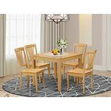 5 Pc small Kitchen Table and Chairs set -square Dinette Table and 4 Kitchen Chairs