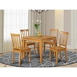 5 Pc Kitchen Table -square Table and 4 Kitchen Chairs