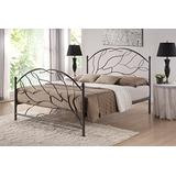 Baxton Studio Zinnia Tree Style Antique Bronze Iron Metal Platform Bed, Queen, Black