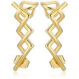 nOir Jewelry Gold Greeley Ear Cuffs