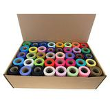Buy 20 or 40 Rolls of 6 Inch X 75 Feet Tulle Rolls (40 Rolls All Colors - 1 Each)