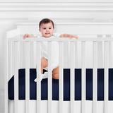 Sweet Jojo Designs Anchors Away Fitted Crib Sheet Cotton in Blue, Size 8.0 H x 28.0 W x 52.0 D in | Wayfair CribSheet-AnchorsAway-NAVY