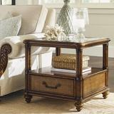 Tommy Bahama Home Bali Hai End Table w/ Storage Wood in Brown, Size 24.0 H x 26.0 W x 26.0 D in   Wayfair 01-0593-955