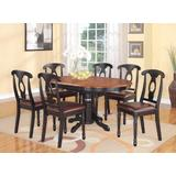 7 PC with Pedestal Oval Dining Table and 6 Dining Chairs.