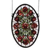 Meyda Lighting Oval Rose Garden Alternative Wall Art - 66005