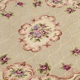 """Marquis Floral Oval Rug, 3'9"""" x 5'9"""" Oval, Champagne"""