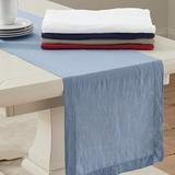 """Marseille Linen Table Runner Red 16"""" x 108"""" - Ballard Designs"""
