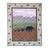 Patch Magic Bear Country Crib Quilt 100% Cotton in Brown/Green, Size 46.0 H x 36.0 W in | Wayfair QCBCTY