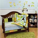 Nurture Imagination Swing 3 Piece Crib Bedding Set Cotton Blend in Blue/Brown/Green, Size 11.5 W in | Wayfair 102003