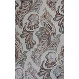 KAS Rugs Bob Mackie Home 1001 Ivory Showtime Hand-Tufted Wool and Viscose Area Rug with Cotton