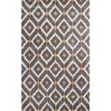 KAS Rugs Bob Mackie Home 1016 Mocha Mirage Hand-Tufted Wool and Viscose Area Rug with Cotton Backing