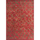 KAS Rugs Zen 5059 Earth Red Pebbles Machine-Made 100% Space-Dyed Polyester Area Rug 5 x 5 Round